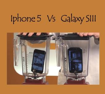 licuando el iphone 5 y el galaxy s3